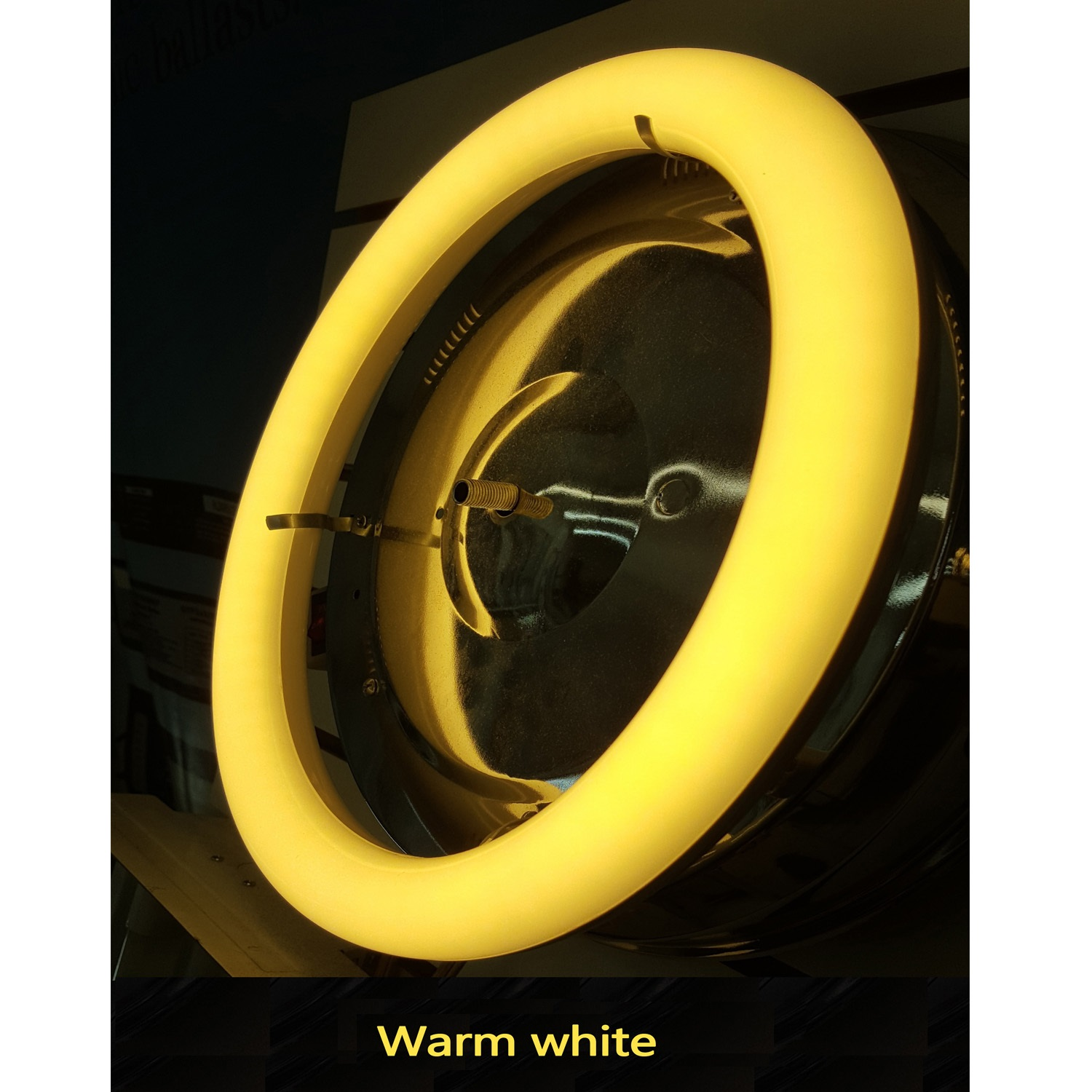 Plug Amp Play 8 Inch Warm White Circline T9 Led Bulb