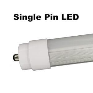 Plug & play single pin 6ft T12 LED replaces 55 watt F72T12 w/o rewiring.