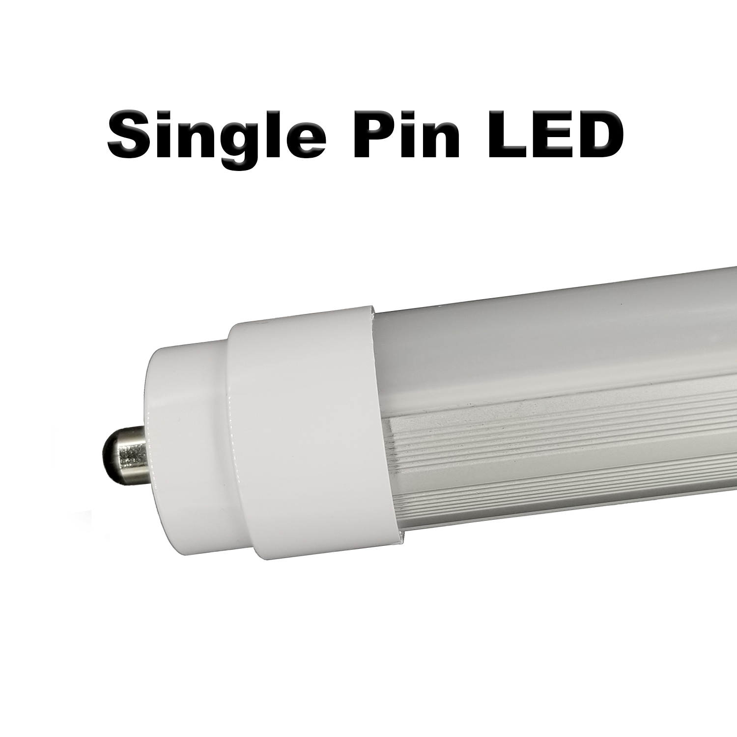 Plug & play single pin 6ft T12 LED replaces 55 watt F72T12 w/o rewiring.